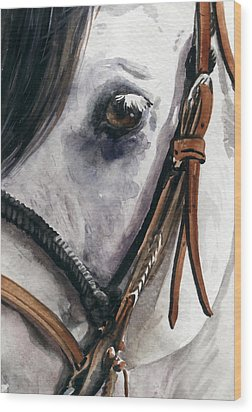 Horse Head Wood Print by Nadi Spencer