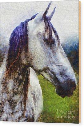 Horse I Dream Of You Wood Print