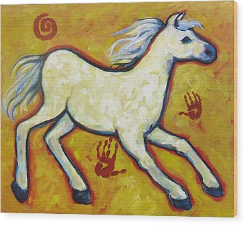 Horse Indian Horse Wood Print by Carol Suzanne Niebuhr