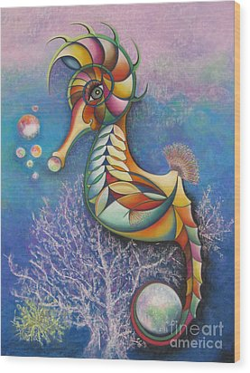 Horse Of A Different Color Wood Print by Tracey Levine