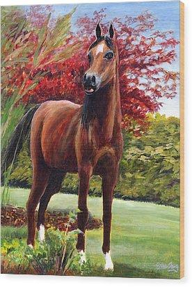 Horse Portrait Wood Print by Eileen  Fong