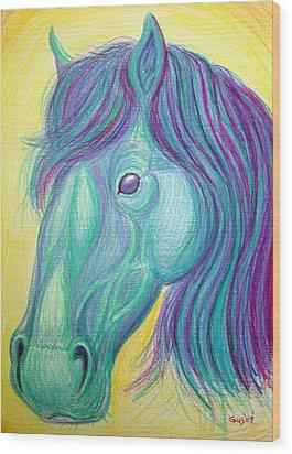 Horse Profile Wood Print by Nick Gustafson