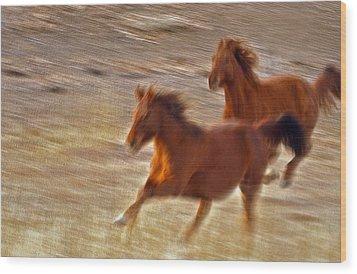 Horse Race Wood Print by James Steele