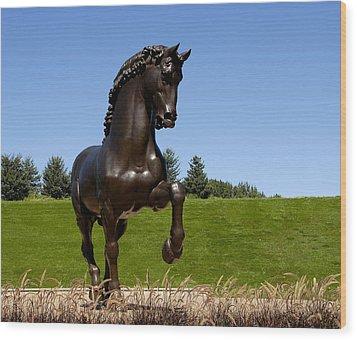 Horse Sculpture 2 Wood Print