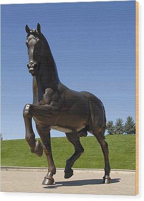 Horse Sculpture Wood Print