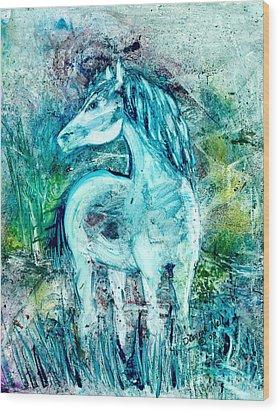 Horse Sense Wood Print