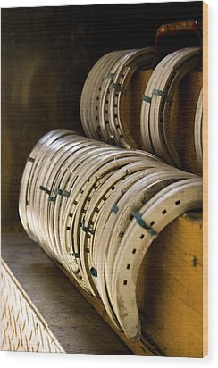 Wood Print featuring the photograph Horse Shoes by Angela Rath