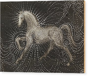 Horse Wood Print by Sophy White
