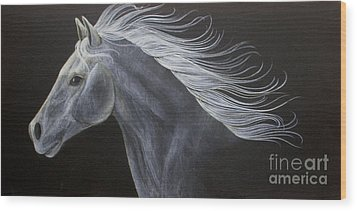 Horse Wood Print by Susan Clausen