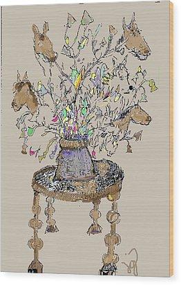 Horse Table Wood Print