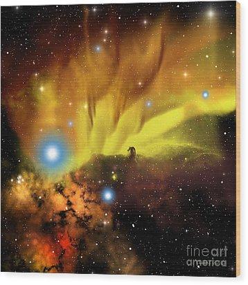Horsehead Nebula Wood Print by Corey Ford