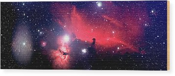 Horsehead Nebula Panorama Wood Print by Jim DeLillo
