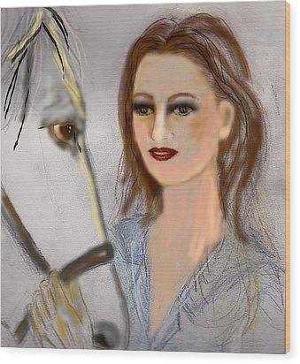 Horse'n Around Wood Print by Desline Vitto