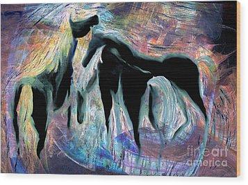 Horses 7 Wood Print