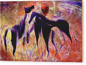 Horses 8 Wood Print