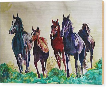 Horses In Wild Wood Print