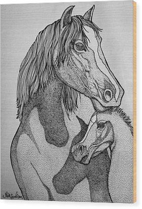 Horses Wood Print by Nick Gustafson