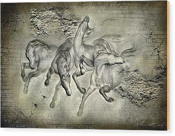 Horses Wood Print by Svetlana Sewell