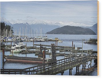Horseshoe Bay Wood Print by Tom Buchanan