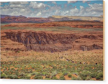 Horseshoe Bend Arizona #2 Wood Print by Jennifer Rondinelli Reilly - Fine Art Photography