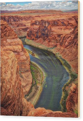 Wood Print featuring the photograph Horseshoe Bend Arizona - Colorado River #3 by Jennifer Rondinelli Reilly - Fine Art Photography