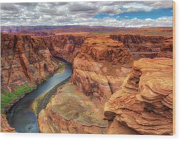 Horseshoe Bend Arizona - Colorado River $4 Wood Print by Jennifer Rondinelli Reilly - Fine Art Photography