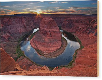 Horseshoe Bend Arizona Wood Print by Dave Dill