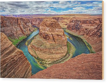 Wood Print featuring the photograph Horseshoe Bend - Colorado River - Arizona by Jennifer Rondinelli Reilly - Fine Art Photography