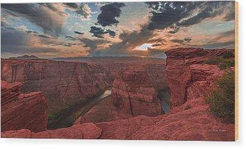 Horseshoe Bend Sunset Wood Print by Tim Bryan