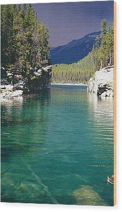 Horseshoe Lake Wood Print by Shirley Sirois