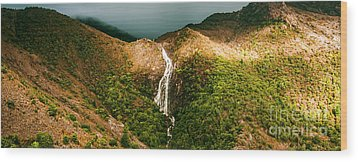 Horsetail Falls In Queenstown Tasmania Wood Print