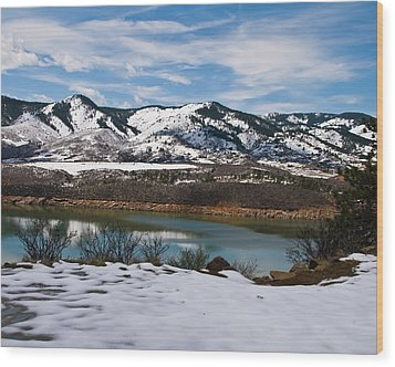 Horsetooth Reservoir Wood Print by Harry Strharsky
