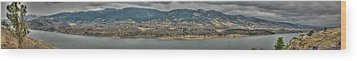 Horsetooth Reservoir Panoramic Hdr Wood Print