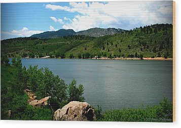 Horsetooth Reservoir Summer Wood Print