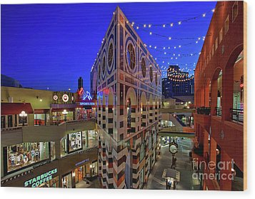 Horton Plaza Shopping Center Wood Print by Sam Antonio Photography
