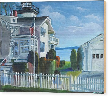 Hospital Point Light  Wood Print by Michael McDougall