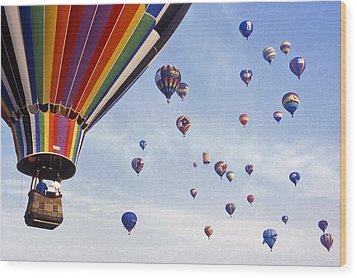 Hot Air Balloon - 12 Wood Print by Randy Muir