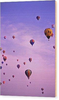 Hot Air Balloon - 13 Wood Print by Randy Muir