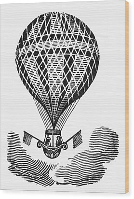 Hot Air Balloon Wood Print by Granger