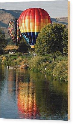 Hot Air Balloon Rally Wood Print by David Patterson