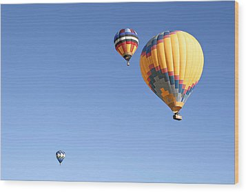 Hot Air Balloon Ride A Special Adventure Wood Print by Christine Till
