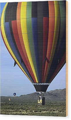 Hot Air Balloon  Wood Print by Sally Weigand