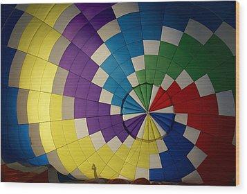 Hot Air Balloon Silhouette Wood Print