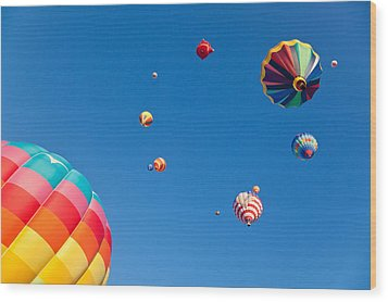 Hot Air Balloons 9 Wood Print