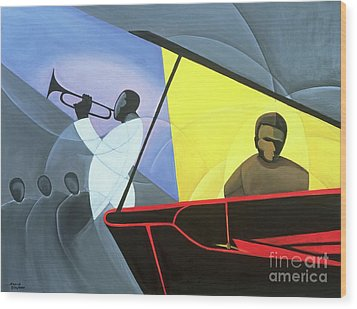 Hot And Cool Jazz Wood Print by Kaaria Mucherera