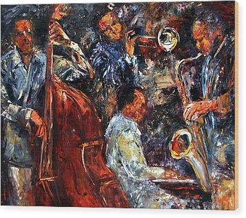 Hot Jazz Three Wood Print by Debra Hurd
