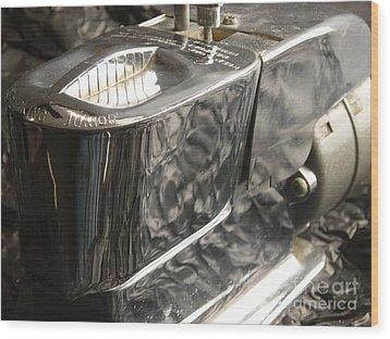 Hot Lather Shave Cream Dispenser Wood Print by Jason Freedman