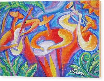 Hot Latin Jazz Wood Print