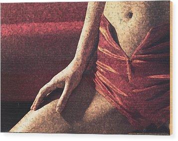 Hot Pants New Wood Print by B and C Art Shop
