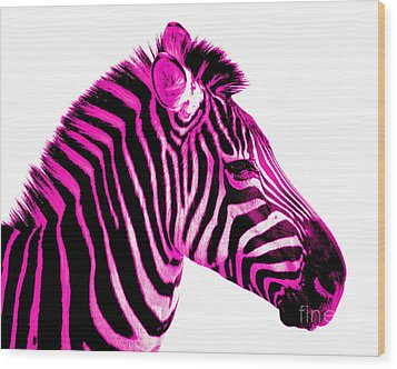Hot Pink Zebra Wood Print